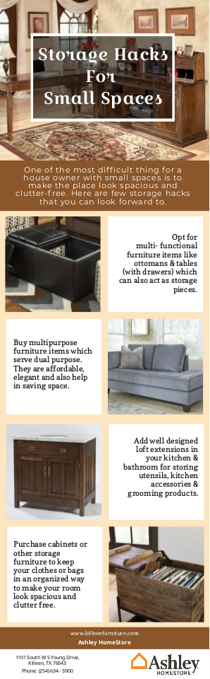 Pin By Ashley Homestore On Furniture Stores In Killeen Tx Small Spaces Storage Hacks Storage