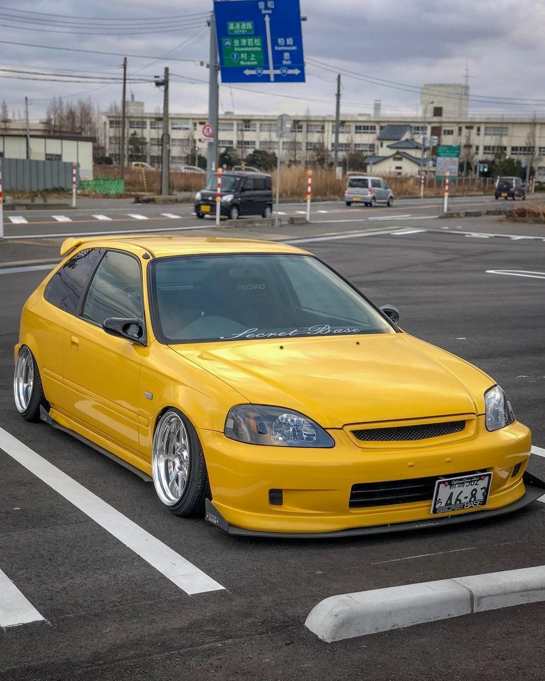 yellow ek hatchback 98 civic honda honda civic honda rh pinterest com