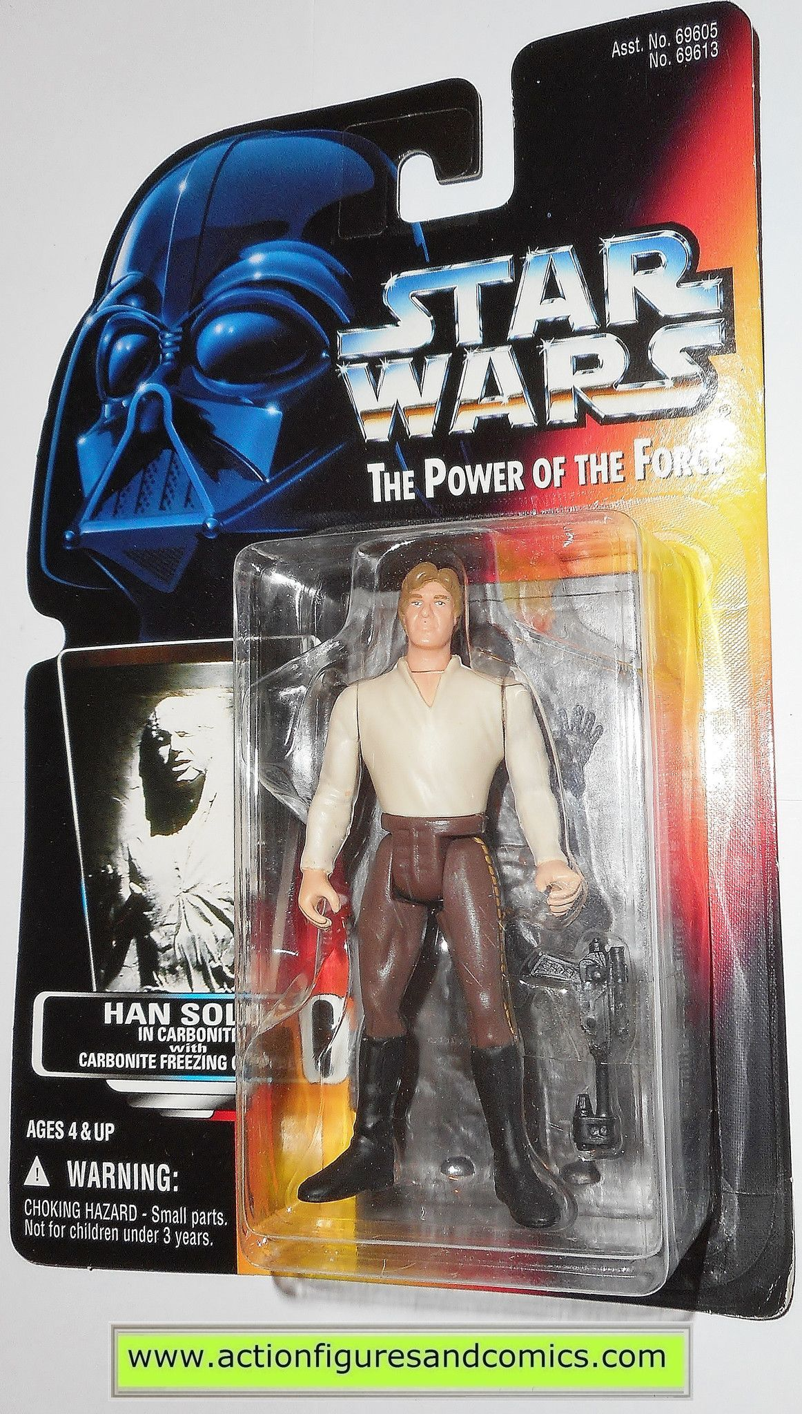 Han Solo IN CARBONITE Block VARIANT Power of the Force POTF Star Wars