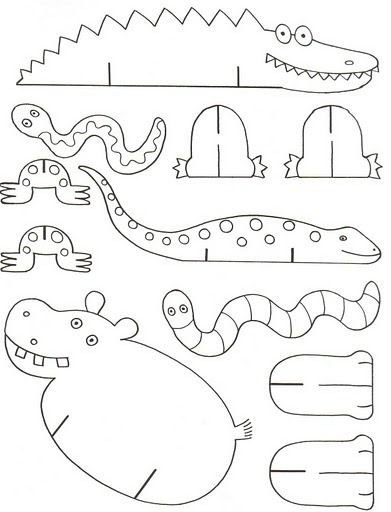 Troquelados para armar - put together | cocodrilos | Pinterest ...
