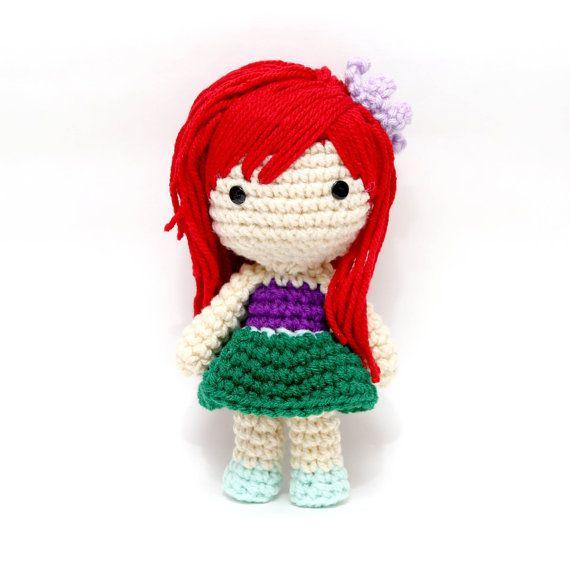 Ariel - linda muñeca Amigurumi inspirado en la Sirenita ...