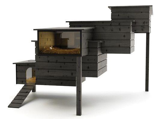 der h hnerstall aus dunklem holz h hnerstall pinterest. Black Bedroom Furniture Sets. Home Design Ideas