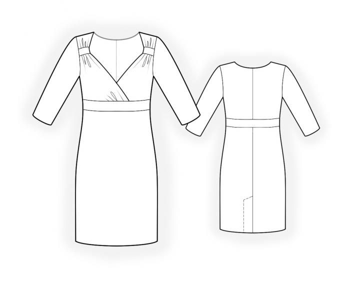 Dress With Wrap - Sewing Pattern #4630 Made-to-measure sewing ...