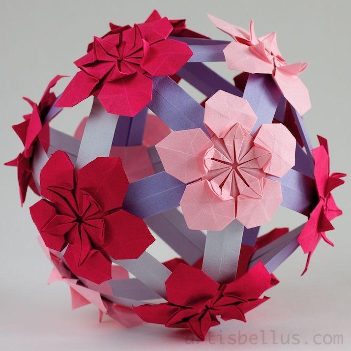 Origami Modular Ball Instructions Craft Ideas Pinterest