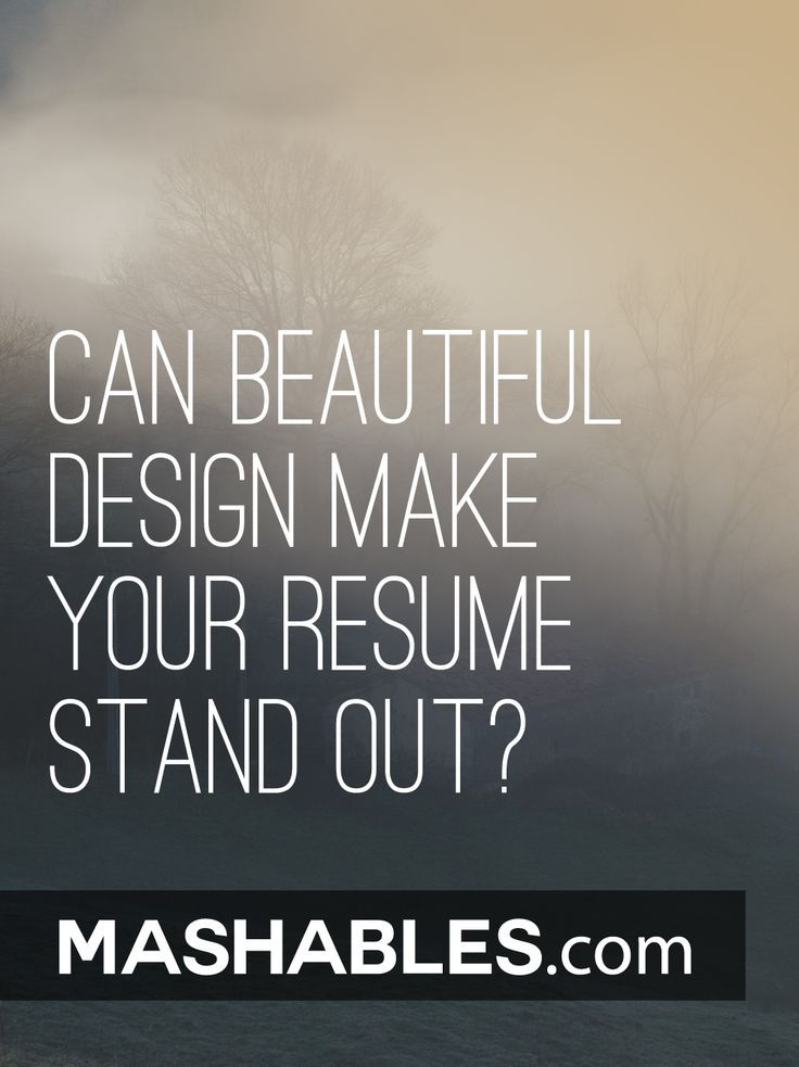 Can Beautiful Design Make Your Resume
