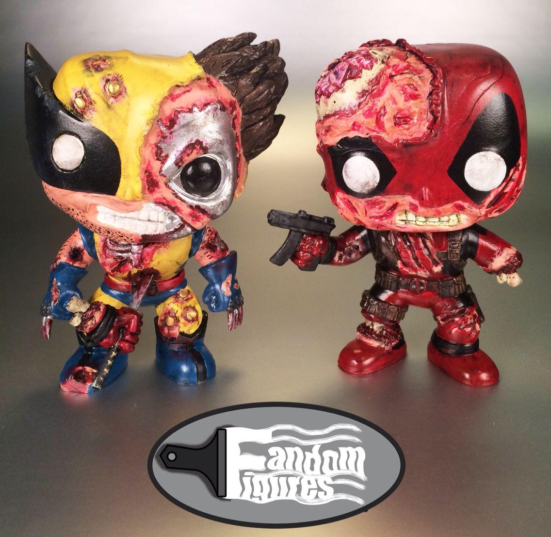 Marvel Wolverine Vs Deadpool Custom Funko Pop Custom