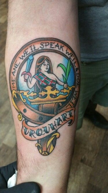 Urquhart clan crest tattoo by jason king my tattoos for Buchanan clan tattoo