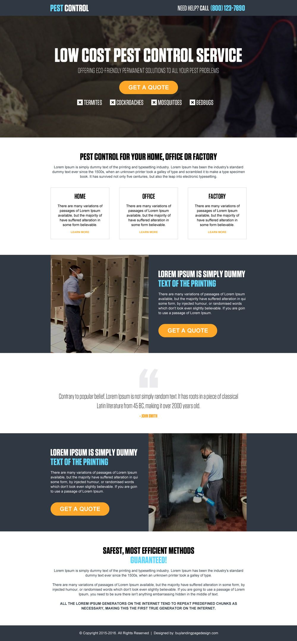 Low cost pest control service call to action landing page design low cost pest control service call to action landing page design template pronofoot35fo Choice Image