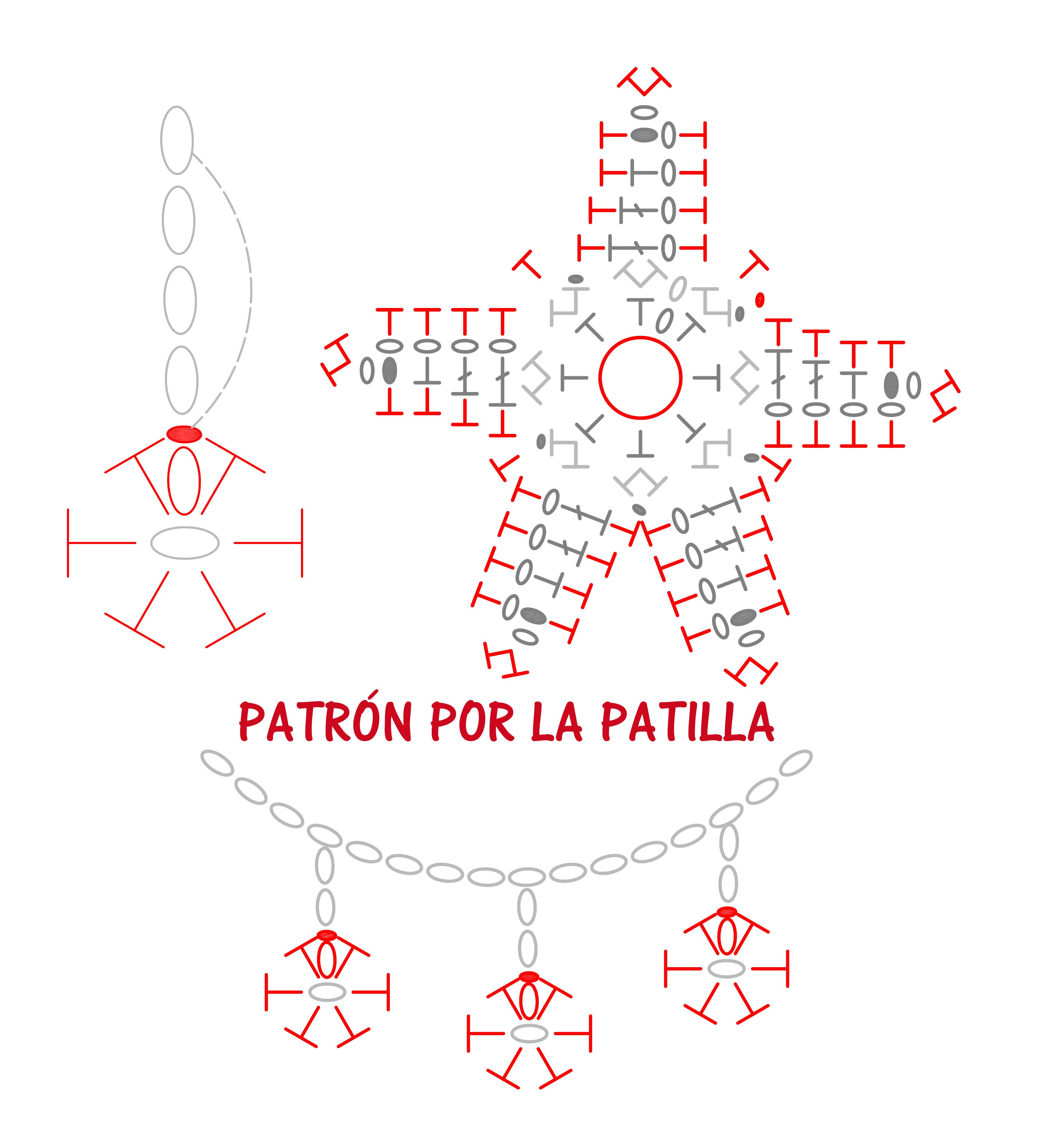 patron estrella crochet | Crochet | Pinterest | Croché, Ganchillo y ...