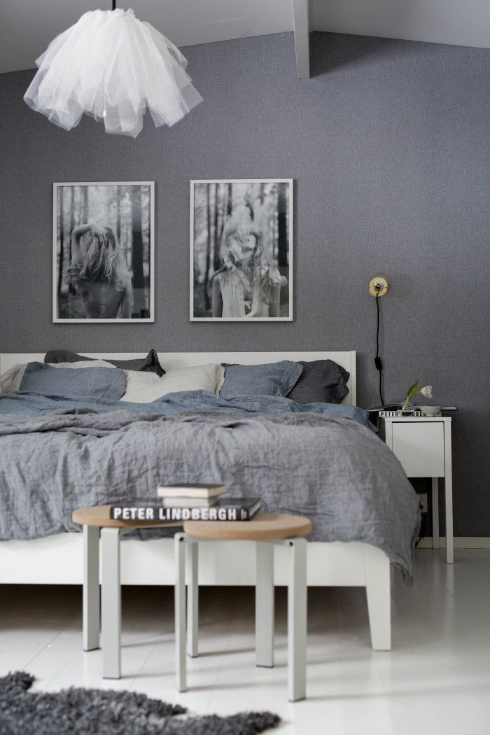 design bedroom%0A The grey and blue color palette of this Nordic bedroom is fresh and modern   yet