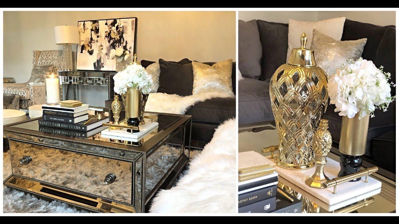Diy Dollar Tree Glam Coffee Table Decor Ideas Youtube Glam Coffee Table Decor Glam Coffee Table Decorating Coffee Tables [ 720 x 1280 Pixel ]