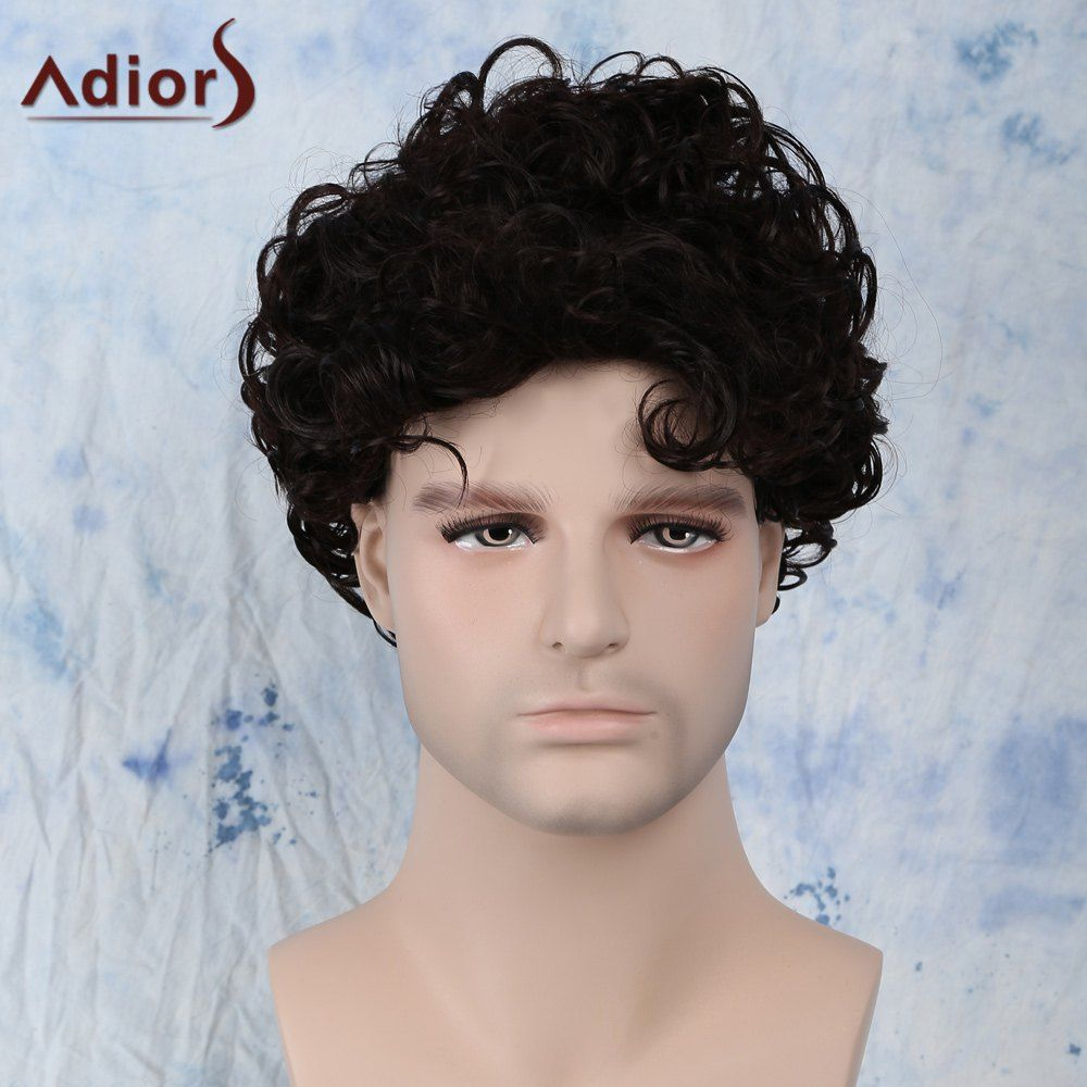 Short fluffy curly side bang synthetic capless wig shoes jewelry