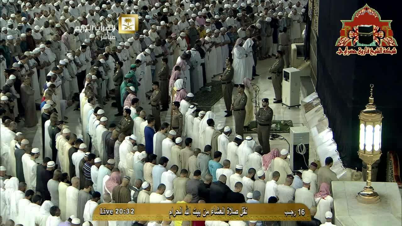 تلاوة خاشعة لسورة الانسان للشيخ ماهر المعيقلي عشاء 16 رجب 1436هـ Mosque Haram Photo Wall