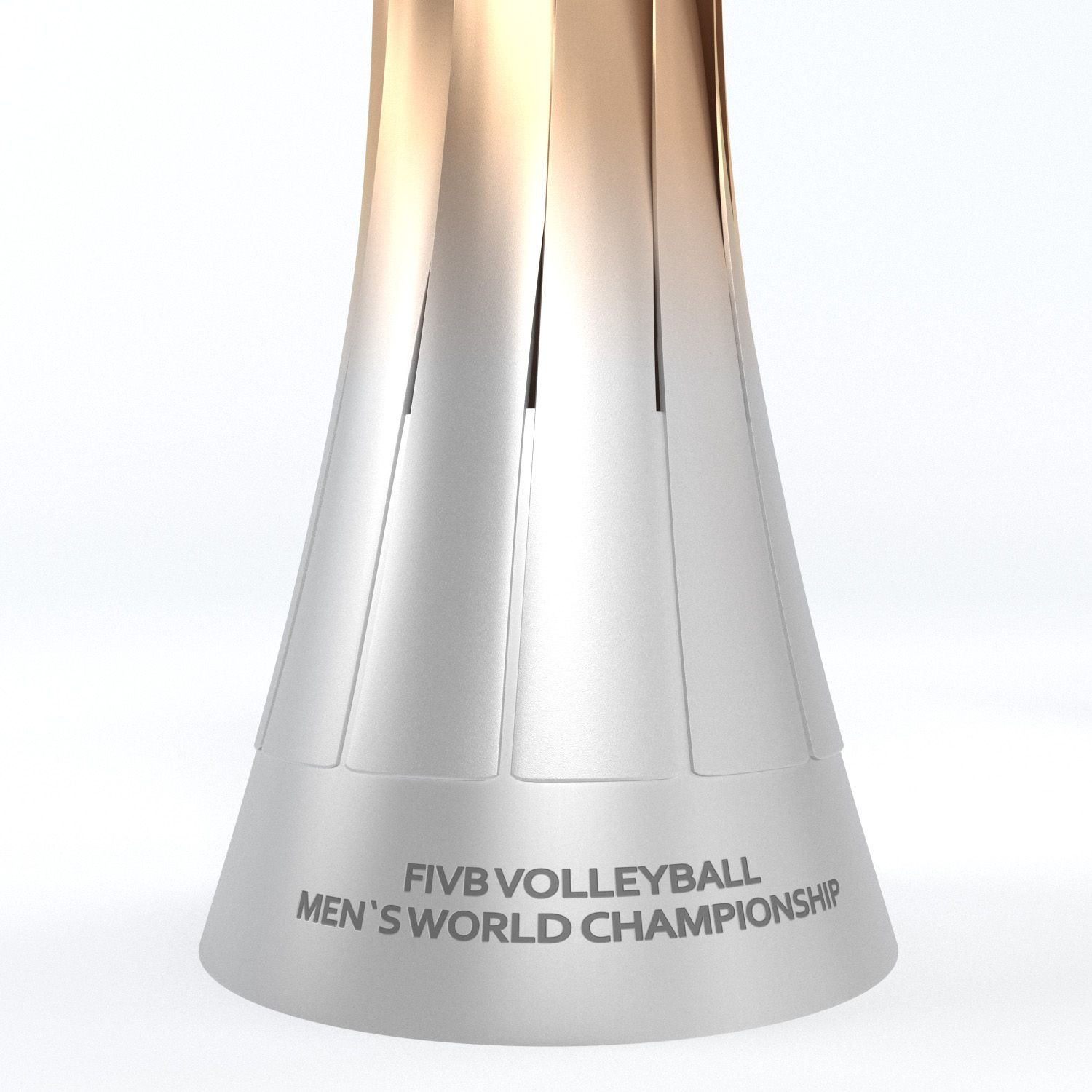 Volleyball World Championship Cup Trophy Low Poly World Championship Volleyball Trophy
