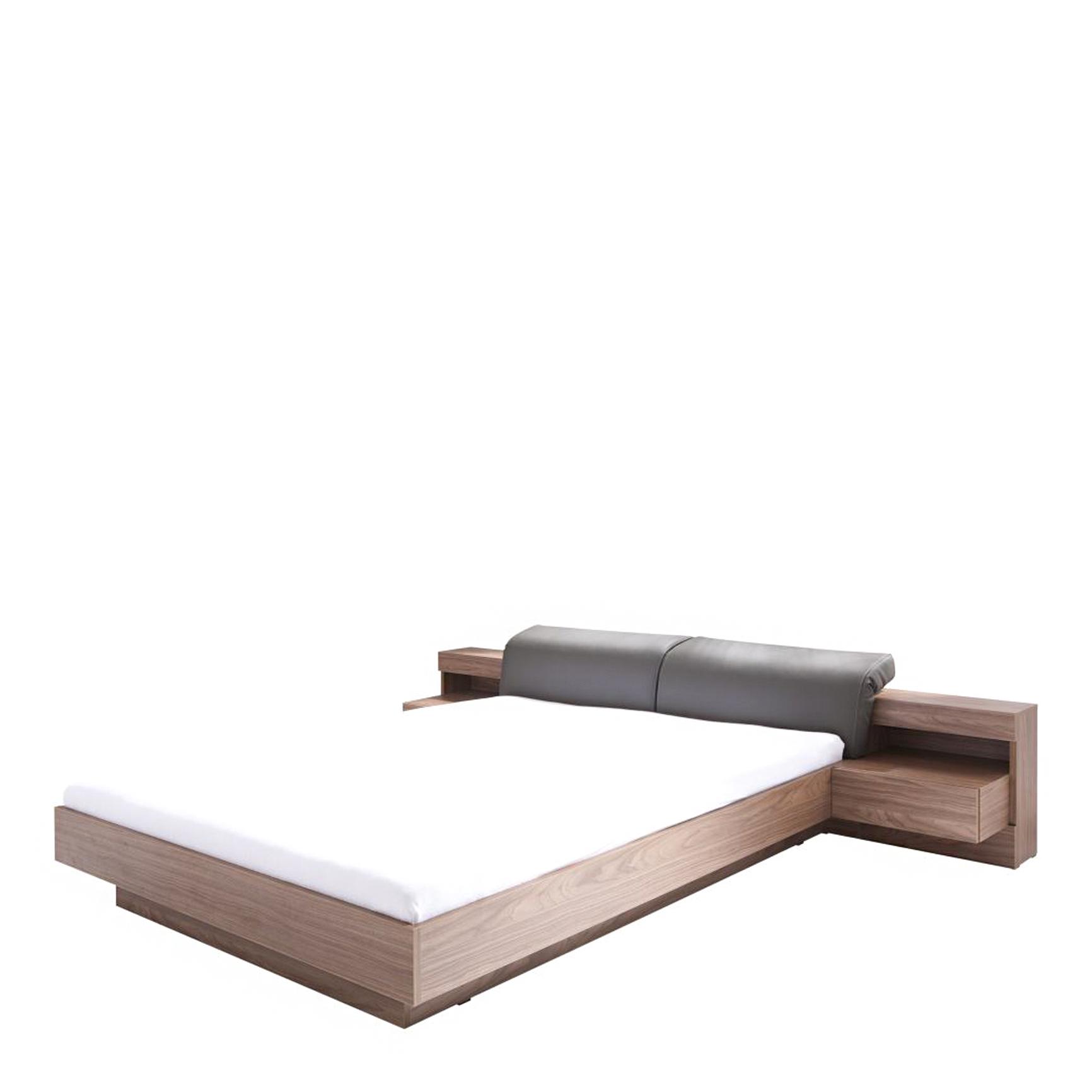 Renato łóżko Z Oświetleniem Typ 8123 Orzechbeton Gładkiz