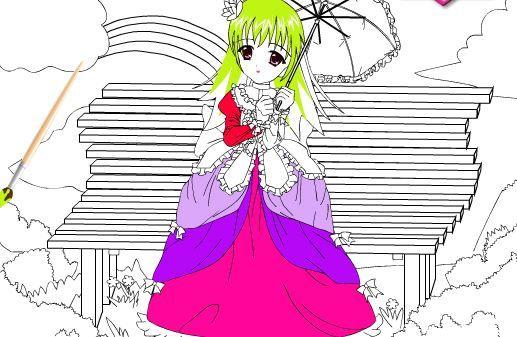 Jogos de colorir online: Princesa Bonita