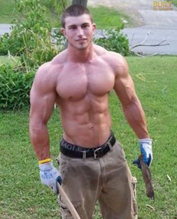 Muscle guys outdoor