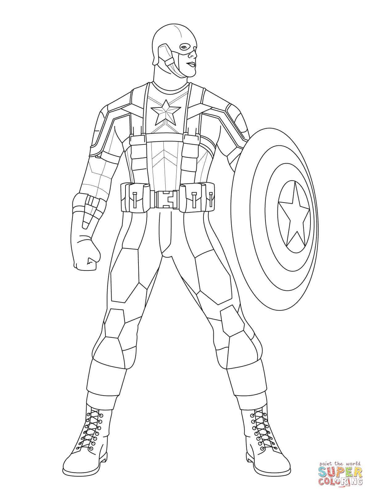 El Capitán América Listo para el Combate | Super Coloring ...