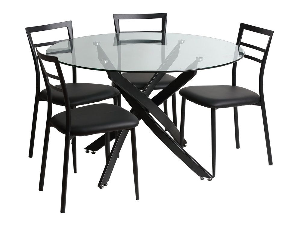 ensemble table a manger ronde en metal