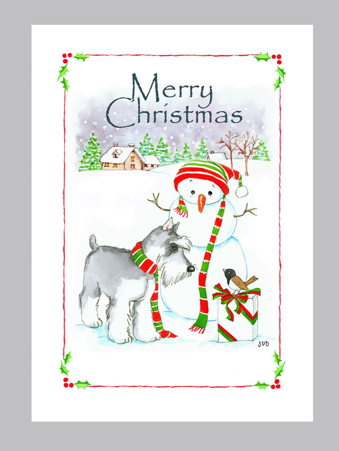 Schnauzer Christmas Cards Box of 16 Cards and Envelopes | dogs ...
