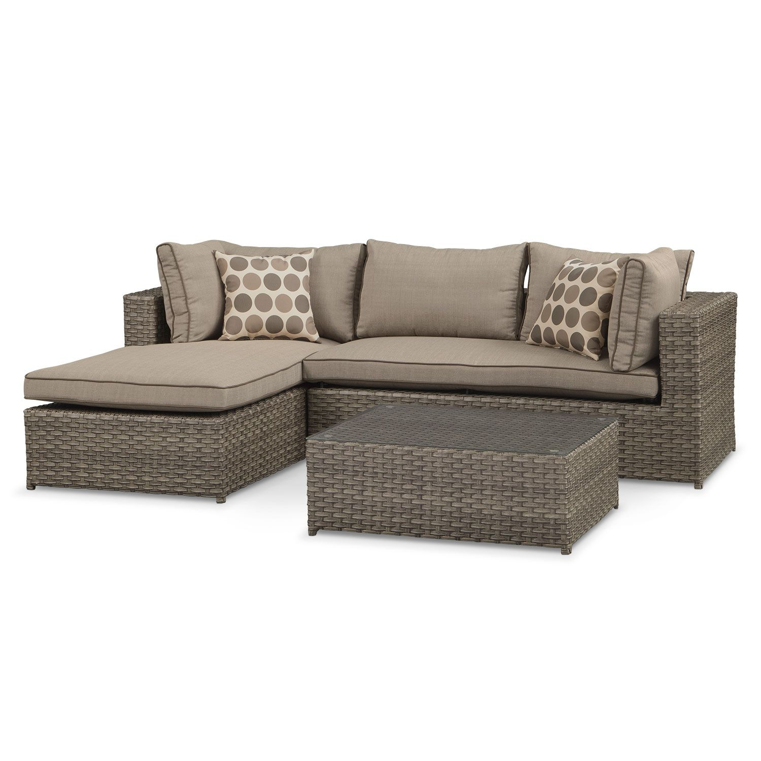 Outdoor Furniture Naples 2 Piece Left Facing Outdoor Sectional