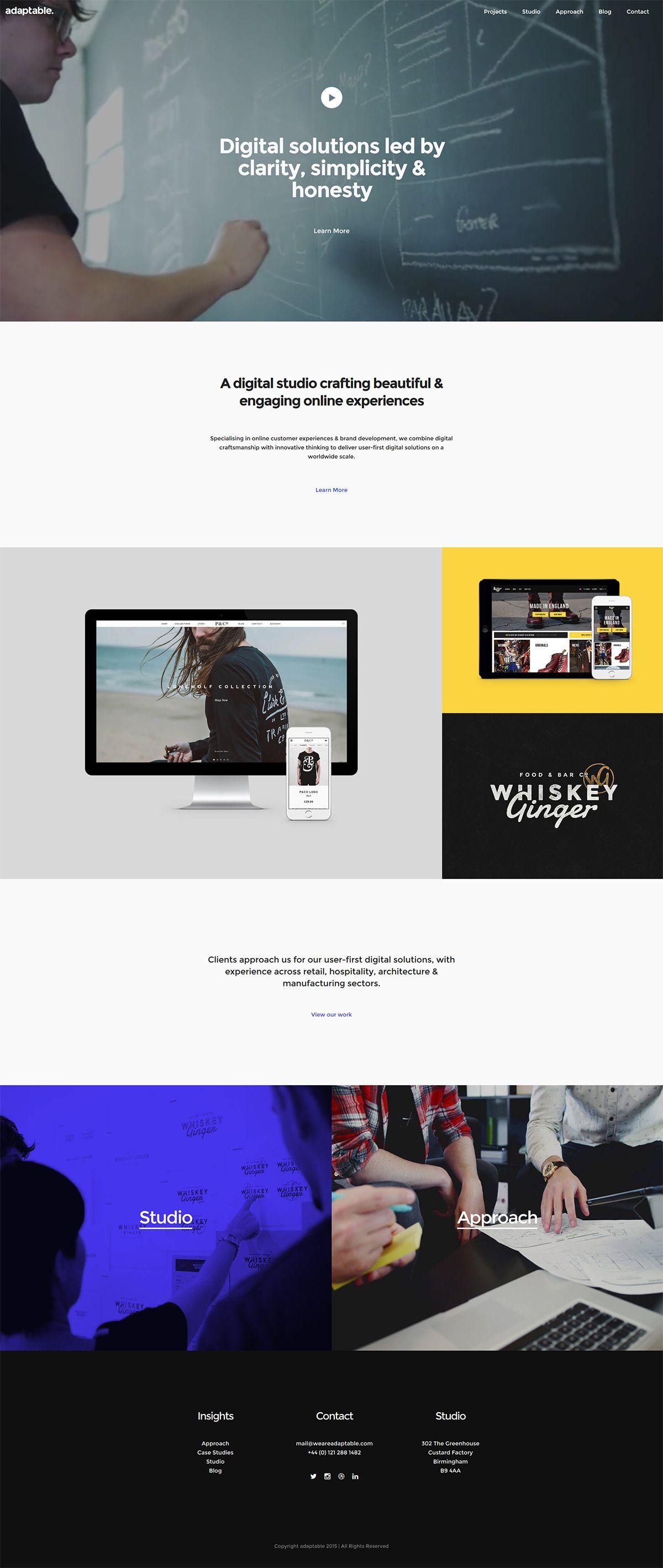Adaptable #website #inspiration #web #agency