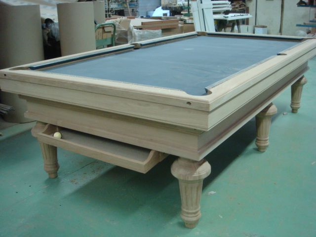 Regent Billiard Table Work In Progress Before Final Varnish - Regent pool table