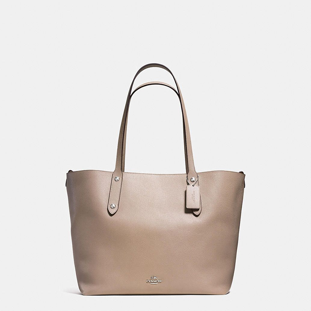 c8781f2105 Shop The COACH Large Market Tote In Polished Pebble Leather. Enjoy Complimentary  Shipping   Returns! Find Designer Bags
