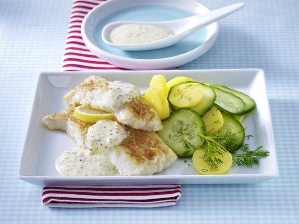 Seelachs-Rezepte – ein guter Fang für jeden Tag - seelachsfilet-mit-senfsosse  Rezept