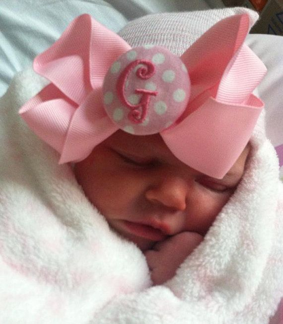 TOP SELLER girl newborn hospital hat her by InfanteenieBeenie 3ef1fe7a232a
