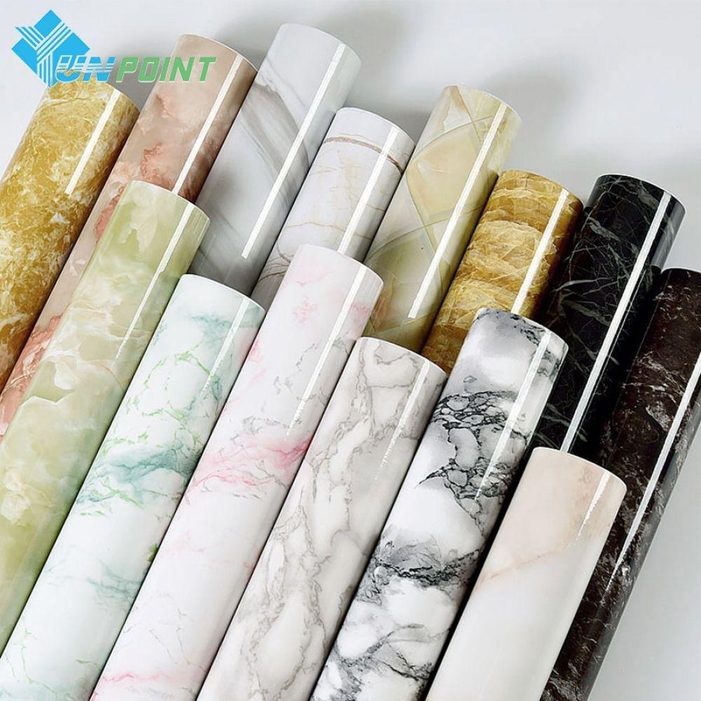 Self Adhesive Marble Vinyl Wallpaper Roll Furniture Decorative Film Waterproof Wall Stickers For Kitchen Backsplash Home Decor Marble Vinyl Marble Sticker Kitchen Wall Stickers