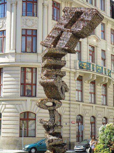 Klichova Socha (Key Sculpture) Franz Kafka Square Prague, Czech Republic