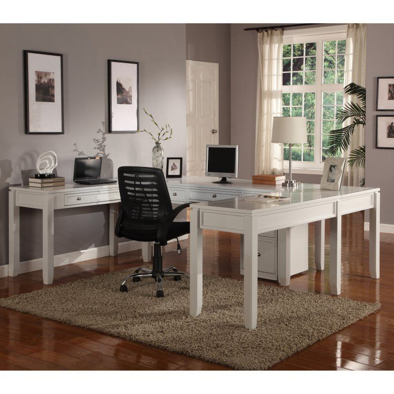 parker house boca u shaped desk cottage white pak970 products rh pinterest com