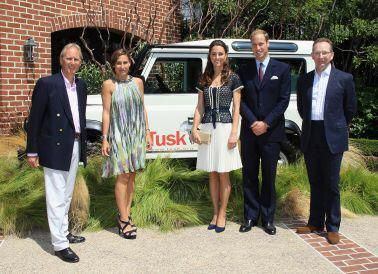 The Duke & Duchess of Cambridge attend an event in 2011 where Land Rover Donated a 2012 Defender Vehicle to Tusk Trust.