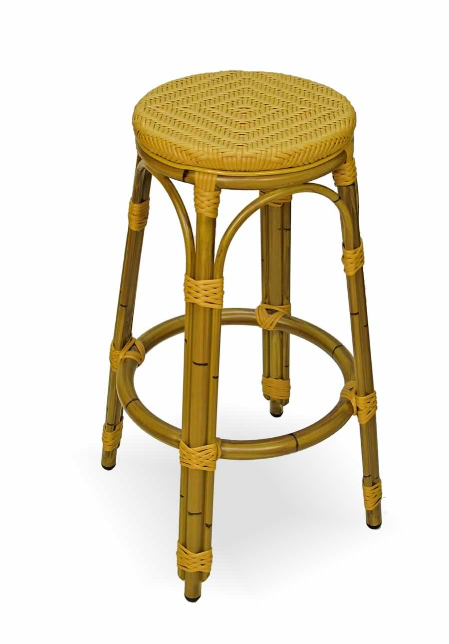 Terrific Aluminum Rattan Finish Frame Backless Bar Stool In 2019 Forskolin Free Trial Chair Design Images Forskolin Free Trialorg