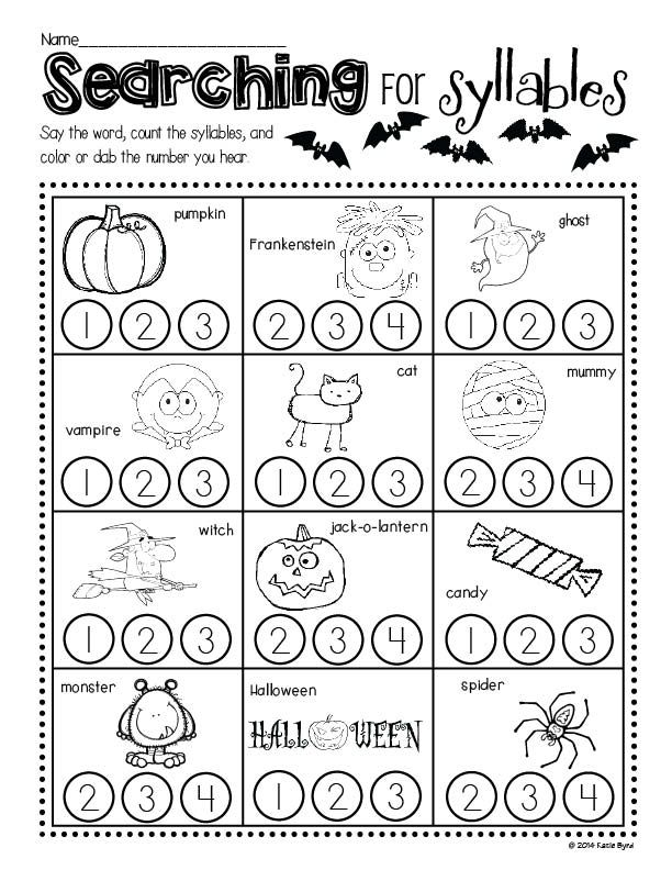 Print and Go! Halloween Math and Literacy (NO PREP