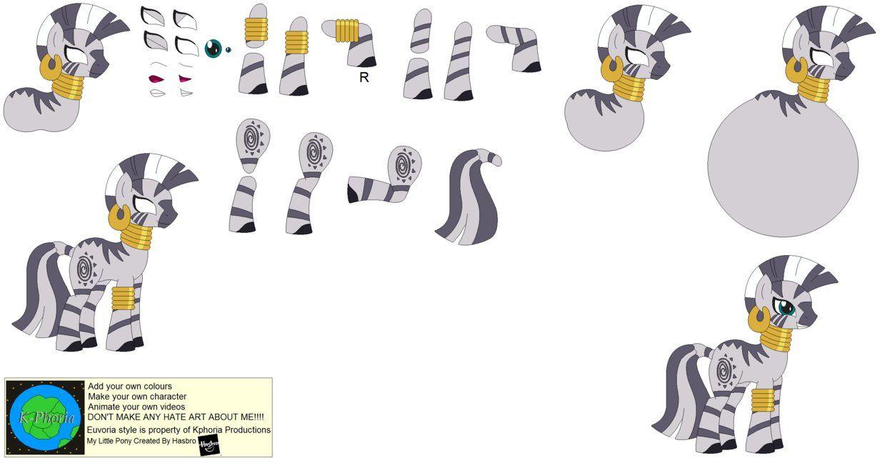 character builder zecora zebra by kphoria on deviantart my little