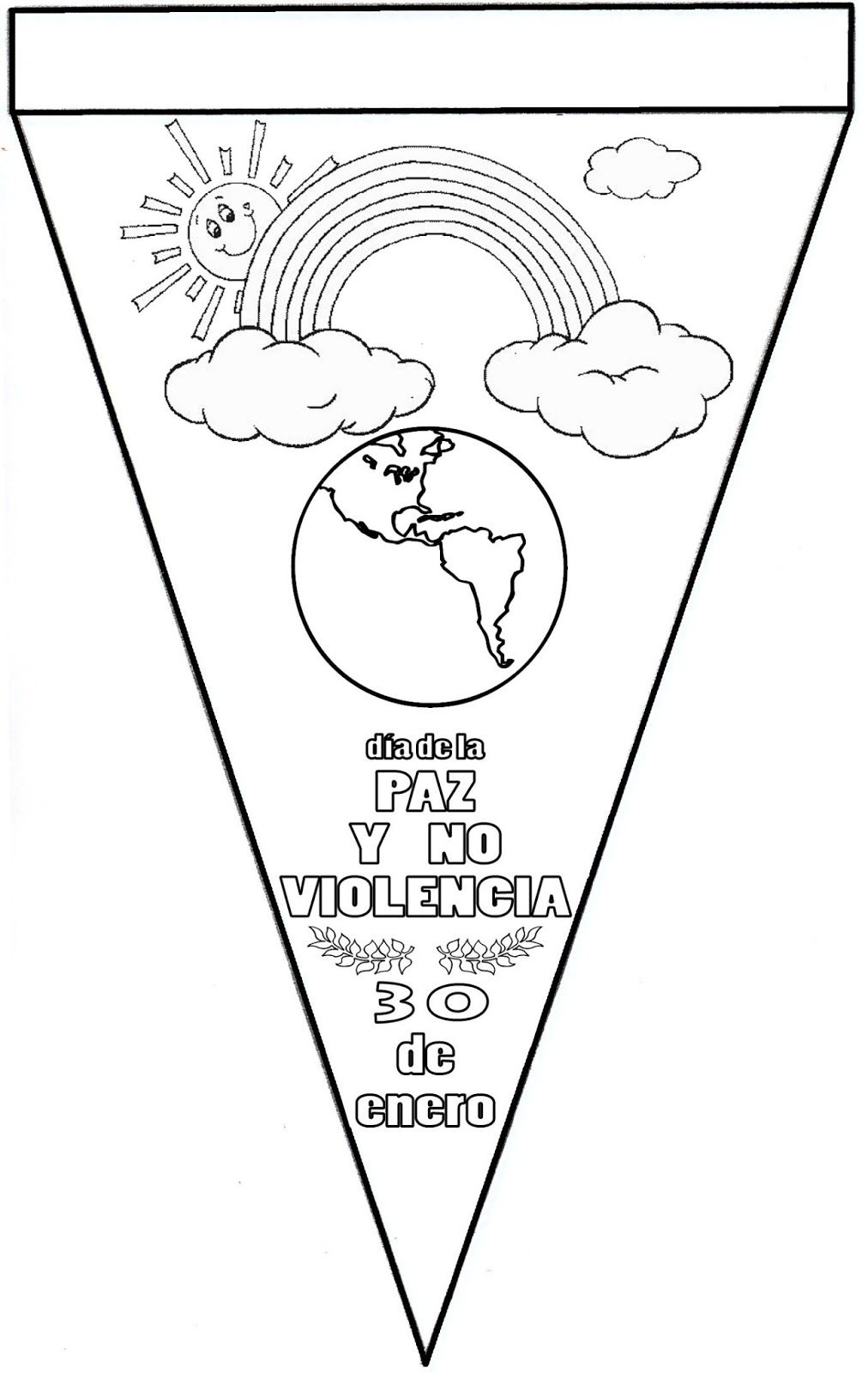 Banderines Decoracion Dia De La Paz Dia De La Paz Educacion