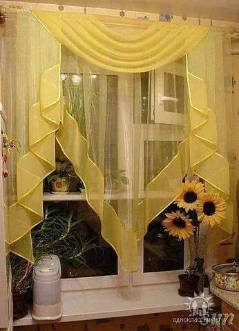 6 Kitchen Curtain Ideas (14) in 2020   Home curtains ...