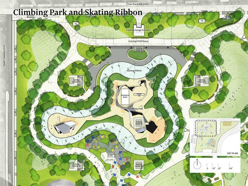 芝加哥玛吉戴利城市公园景观设计 Landscape Design Plan Landscape Design Plans Urban Landscape Design Landscape Plans