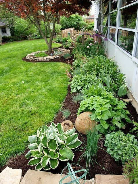 Backyard Gardening Ideas I love the look of this garden. Farmhouse Landscaping Front Yard Ideas ...