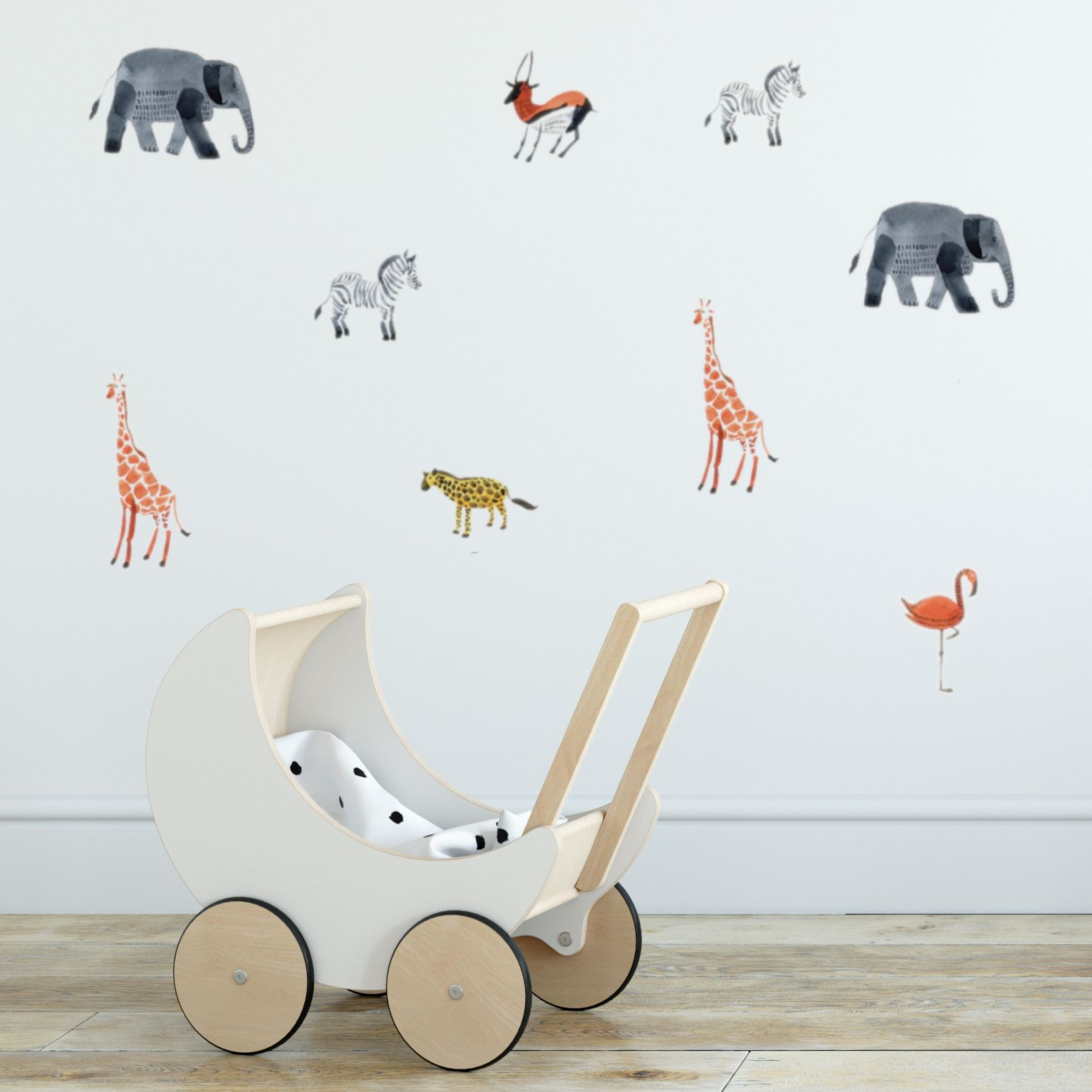 Zoo Animals wall decal in 2020 Animal wall decals, Wall
