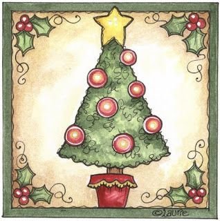 dibujos arboles navidad para imprimir