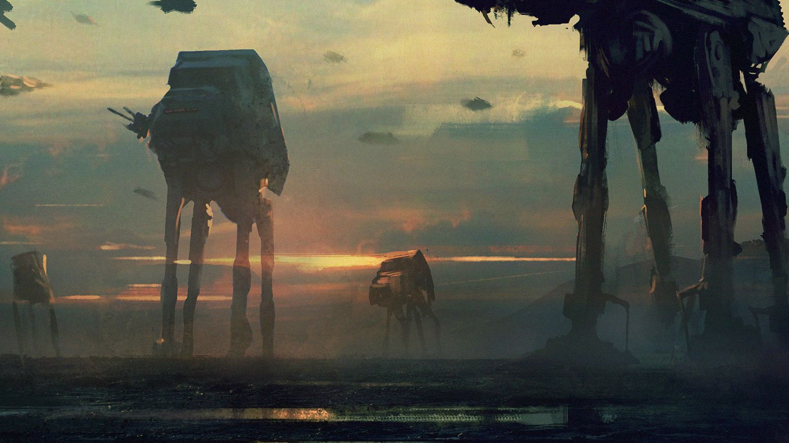 At At Walker Star Wars Gritty Concept Imgur Star Wars Painting Star Wars Art Star Wars Artwork
