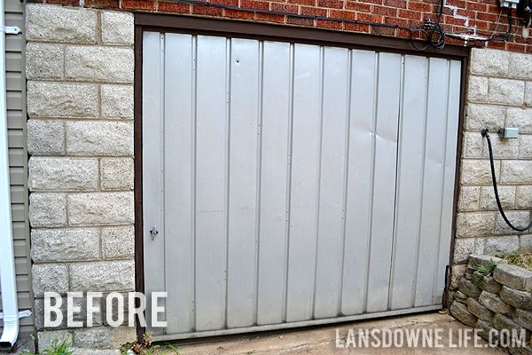 Replacing An Old Garage Door With A Wall Lansdowne Life Garage Doors Old Garage Doors