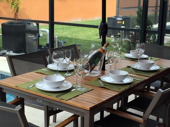 Hampton Bay Barnsdale Teak 7 Piece Patio Dining Set Set T1840 + C2011 At  The Home Depot   Mobile