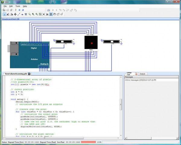 Virtual bread board arduino simulator raspberry