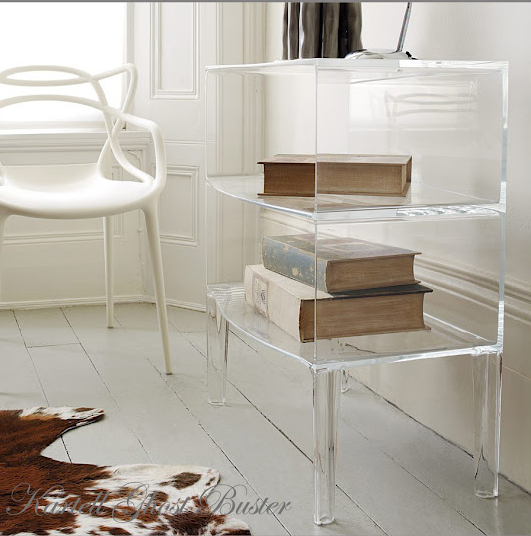 the ghost buster side table storage by philippe starck. Black Bedroom Furniture Sets. Home Design Ideas