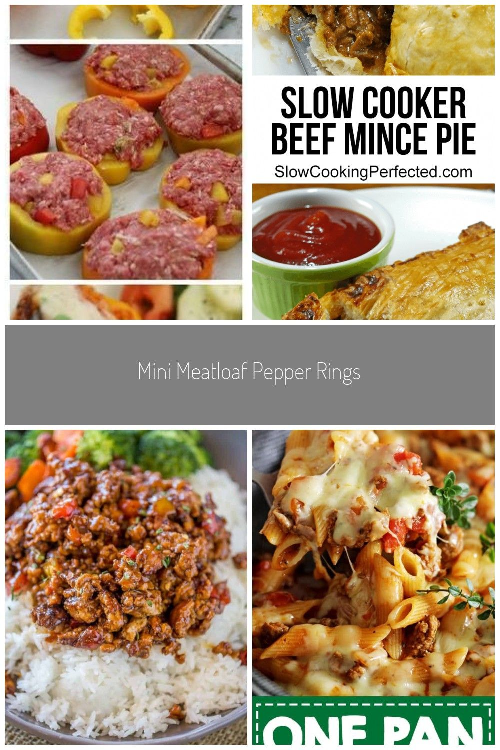 Mini Meatloaf Pepper Rings. Replace with extra lean ground ...