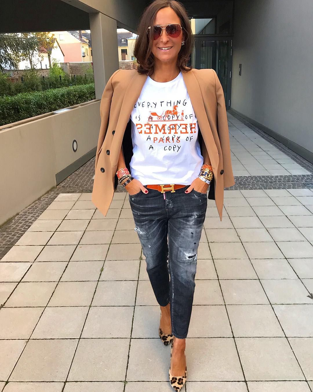 "Photo of Tanja Jager on Instagram: ""Casual chic mit meinem neuen Shirt von @mariellestokkelaar 🧡🖤*Werbung* ********************************************Outfitlinks in der…"""